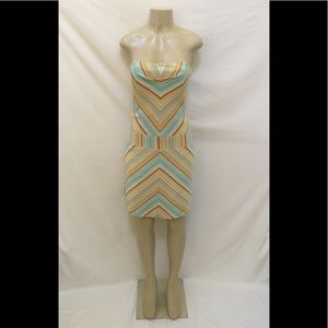 Laundry By Shelli Segal Size 4 Striped Dress